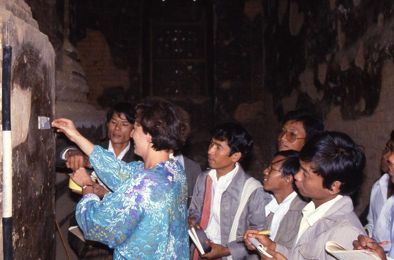 Conservation et restauration de peintures murales à Pagan, Birmanie (Myanmar)