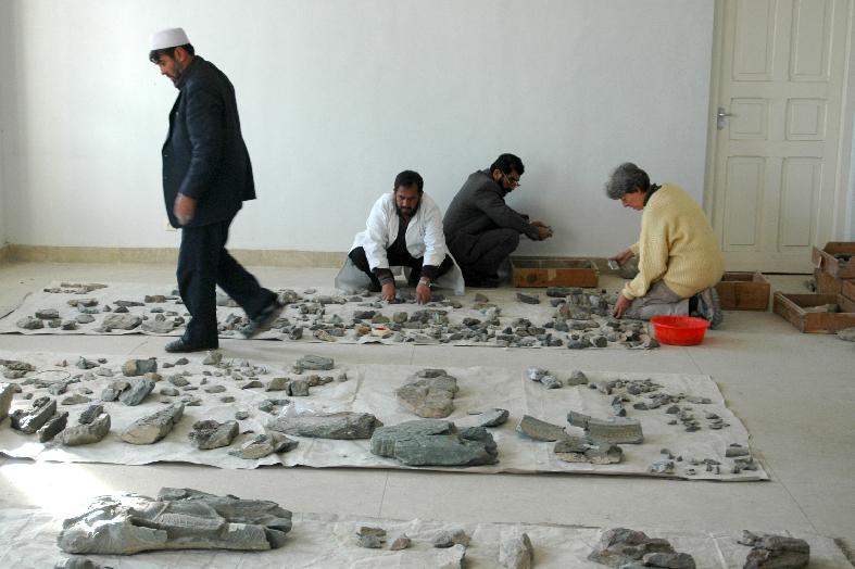 Reconstruction de statues du Musée de Kaboul, Afghanistan