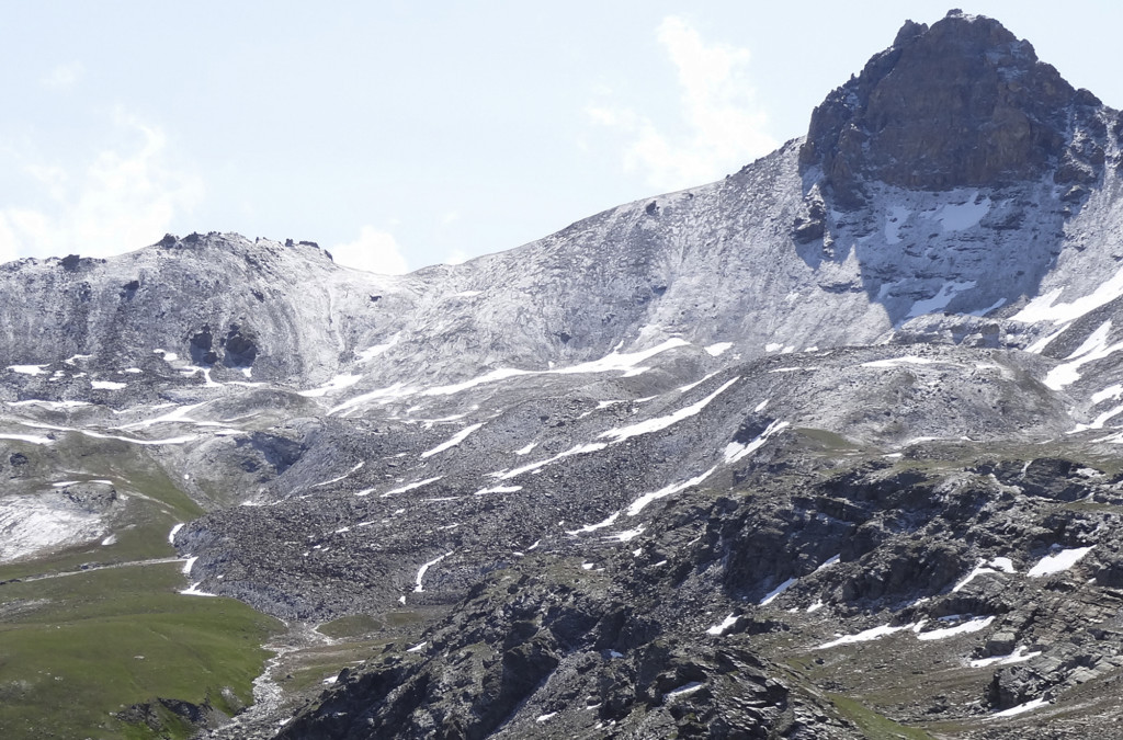 Der Blockgletscher «Becs-de-Bosson» im Haut Val de Réchy (VS)