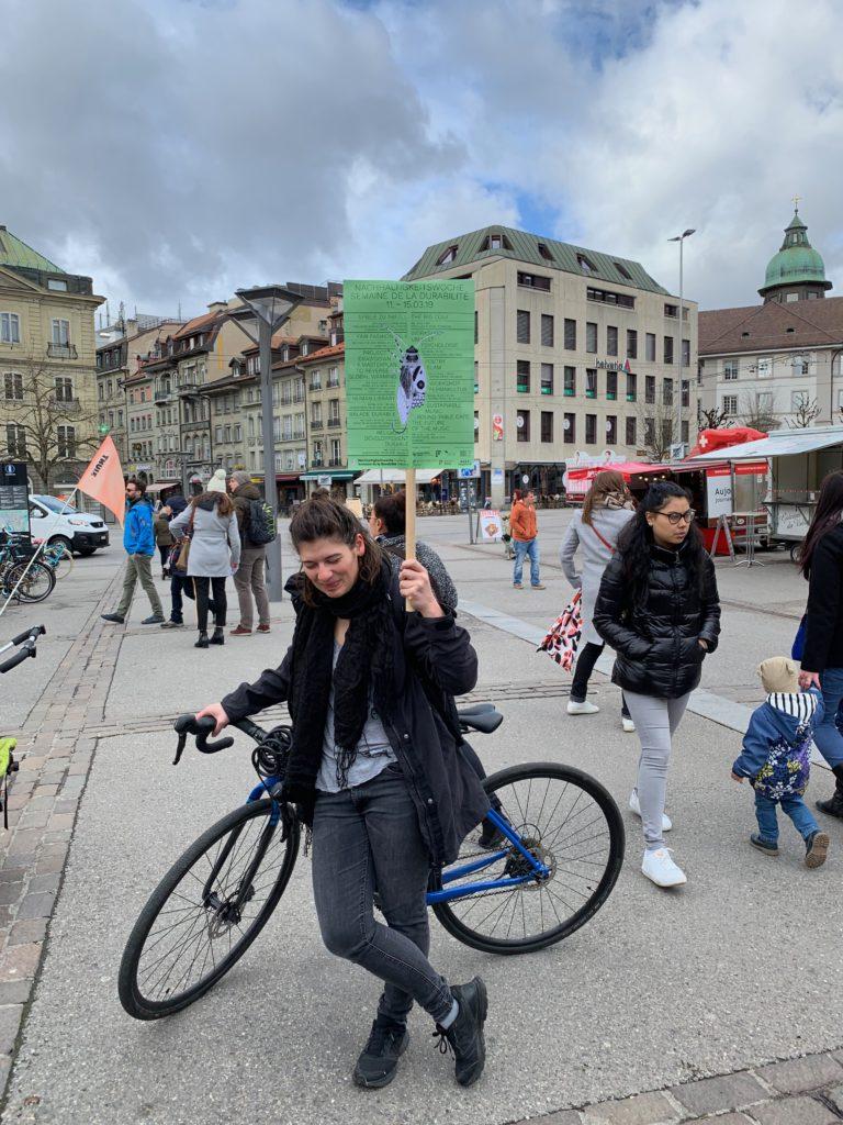 Die Tour startete vor dem Markt am Georges-Python-Platz.
