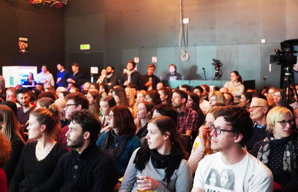 Les 6 candidat·e·s de l'édition 2019 se sont présenté·e·s devant une salle comble.
