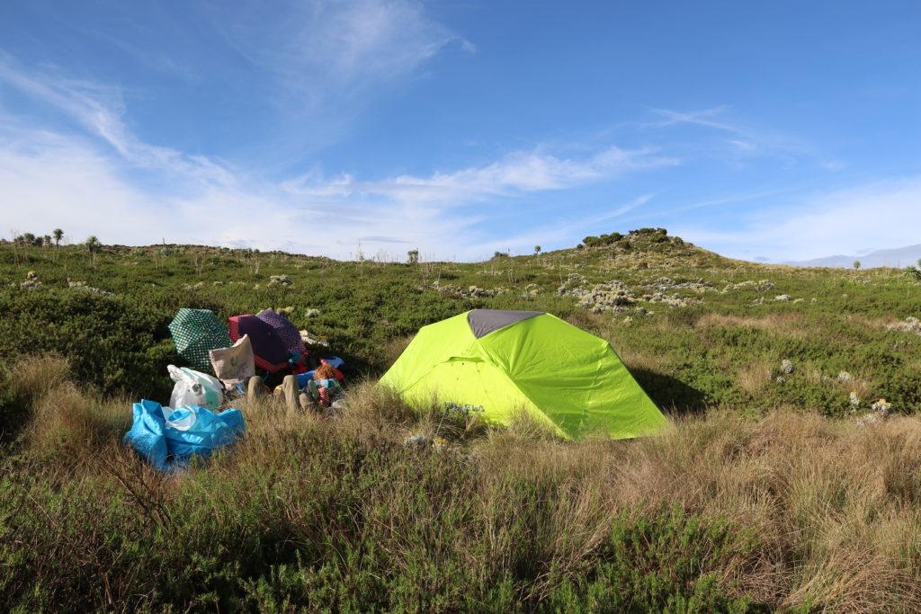 Camping sur les hauts plateaux
