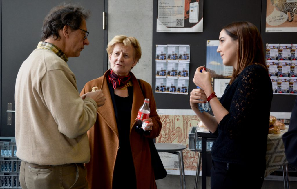 Coralie Chiffelle et Monique Bersier, directrice administrative de l'Unifr