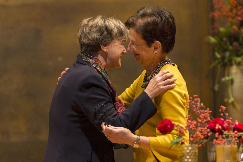 Isabelle Chassot, sénatrice honoraire, et Antoinette de Weck, présidente du Sénat