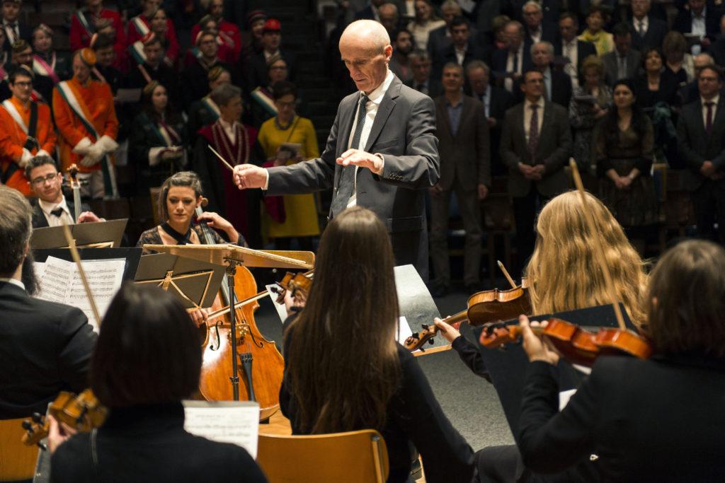 L'Orchestre de la Ville et de l'Université de Fribourg sous la direction d'Alexandre Ianos