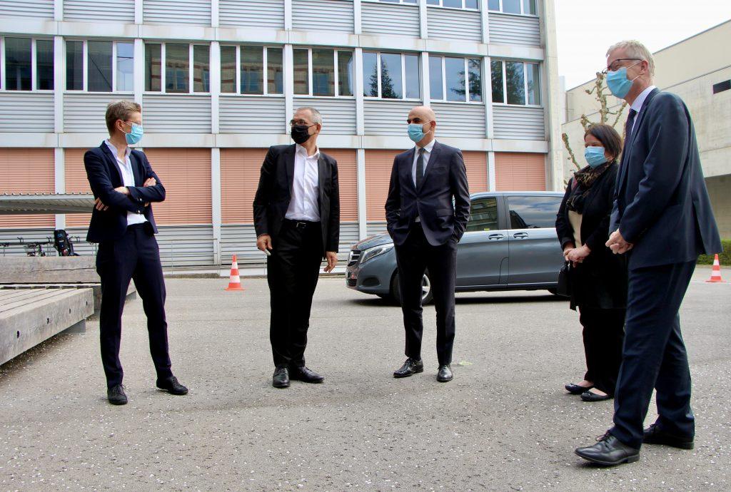 La rencontre s'est tenue dans le nouveau bâtiment de médecine de l'Unifr.