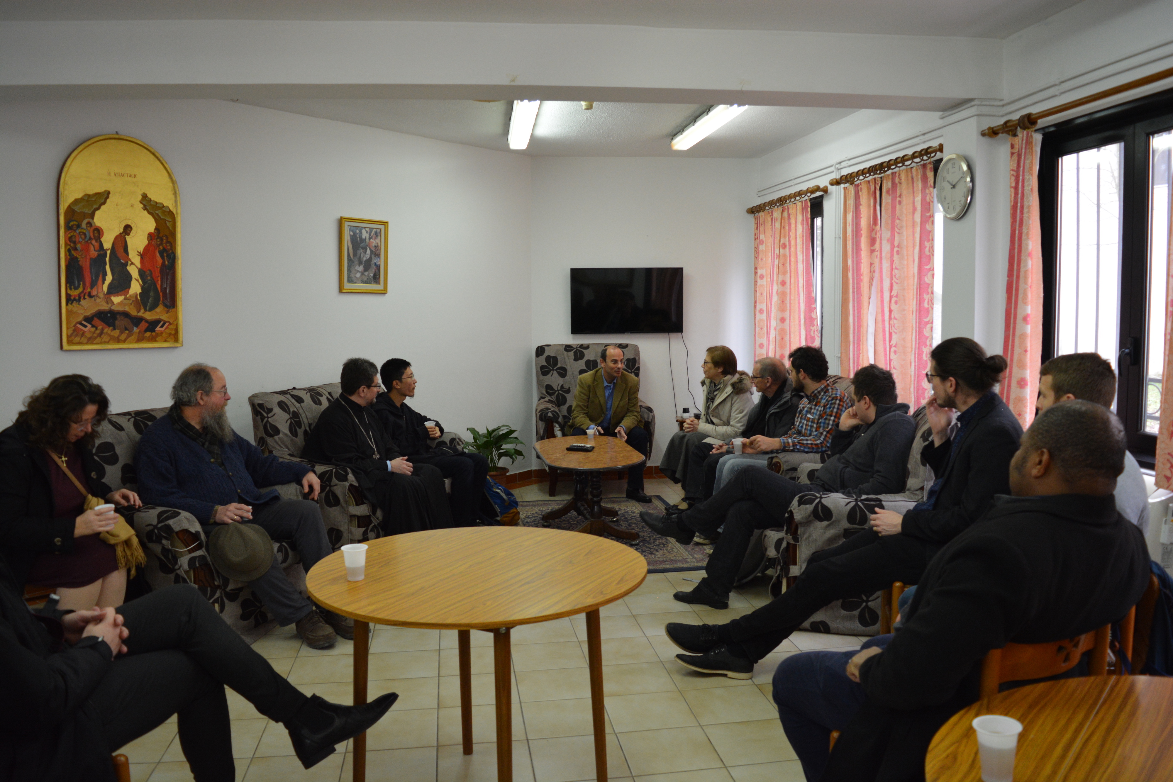 Reception in the Theological Faculty of the Logos University by Prof. Georgios Gaitanos