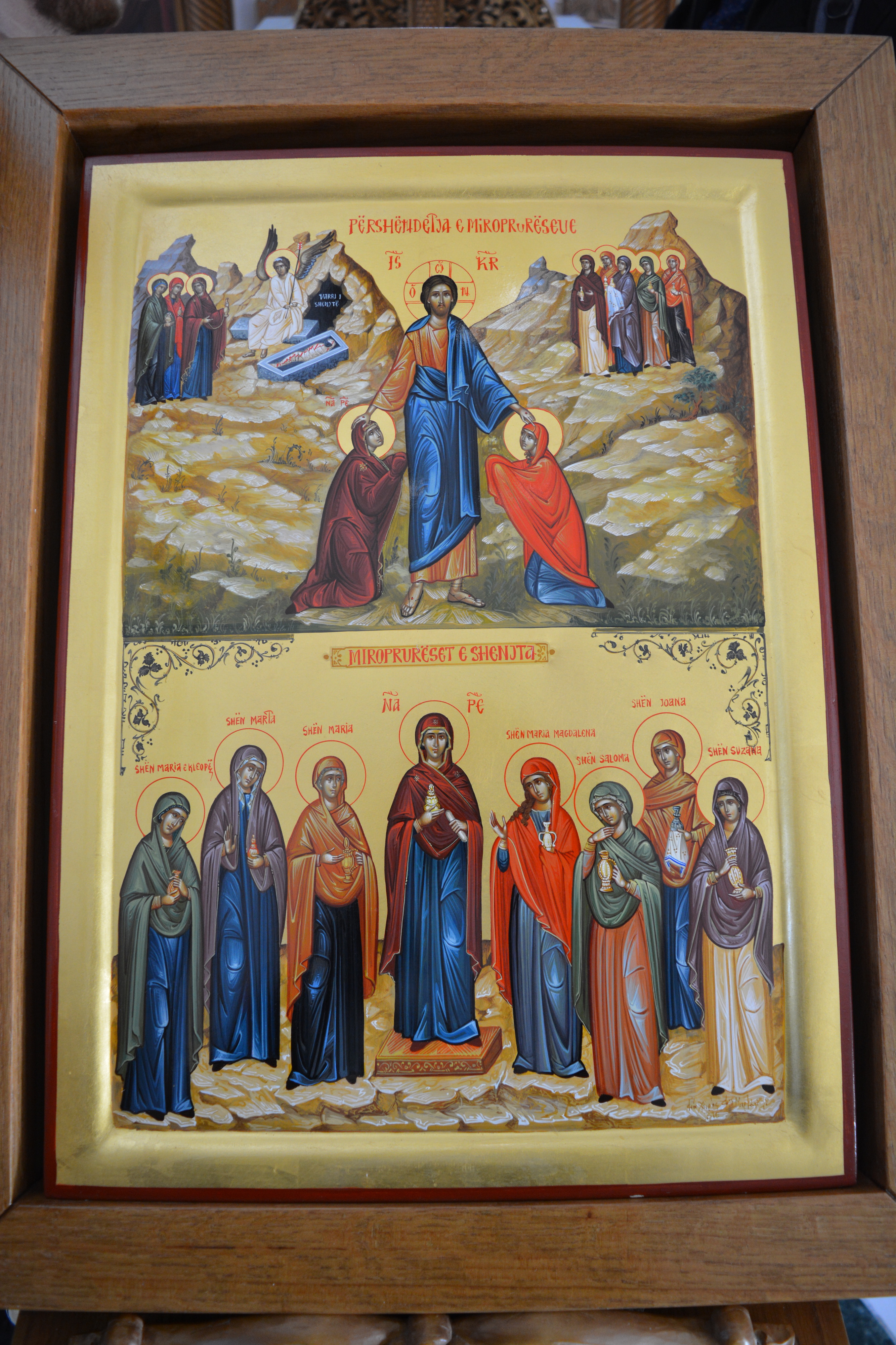 The icon of the holy Myrrhbearers