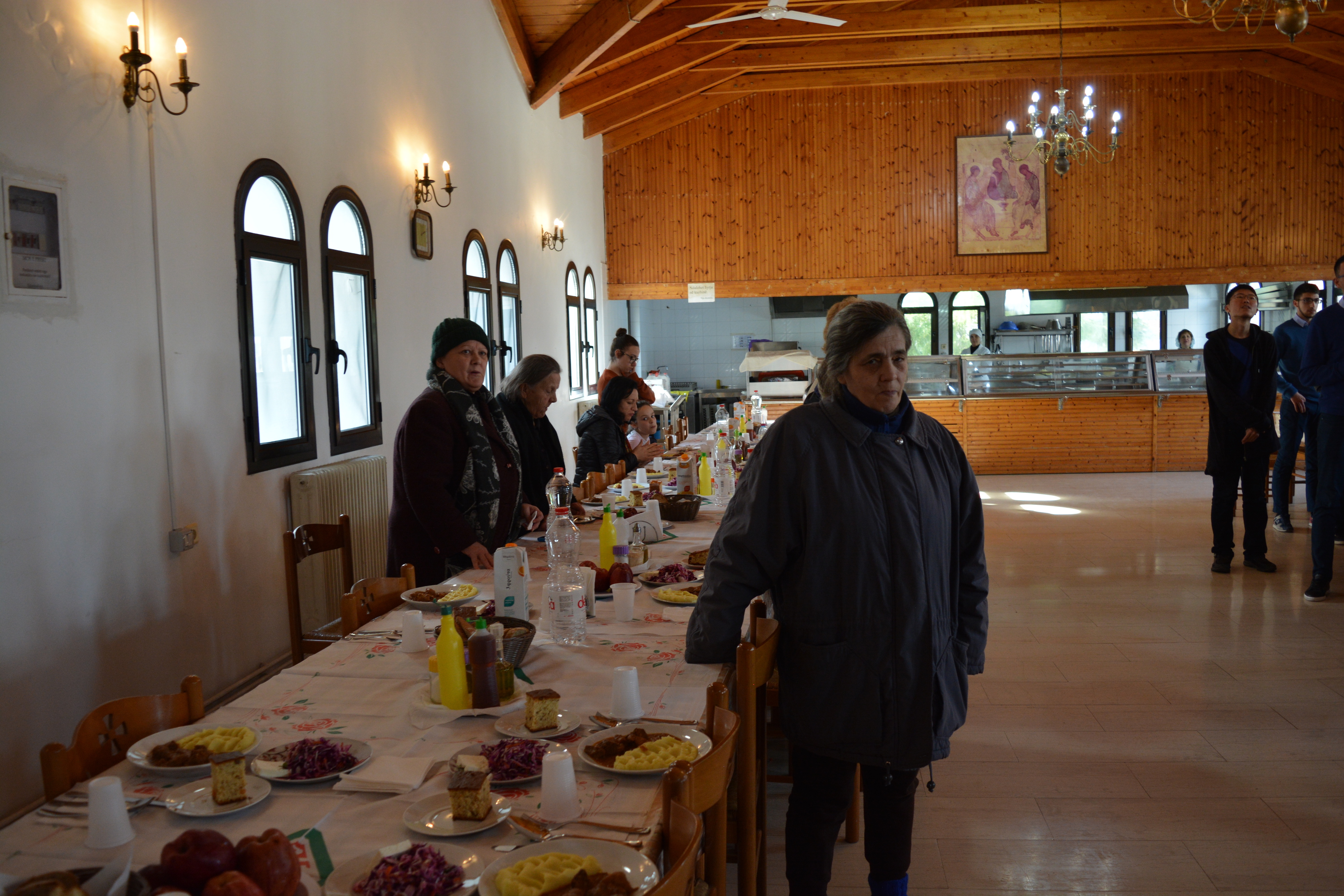 Lunch with victims of the earthquake on 26th November 2019, still without home