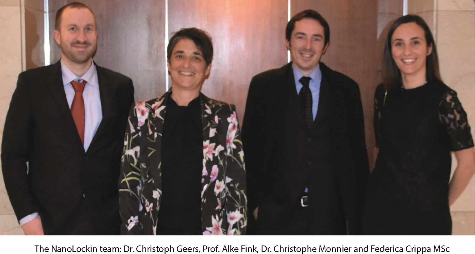 The NanoLockin team: Dr. Christoph Geers, Prof. Alke Fink, Dr. Christophe Monnier and Federica Crippa MSc
